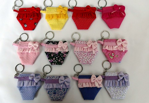Chaveiros Mini Calcinhas by Cute for Baby by Mirian Rezende