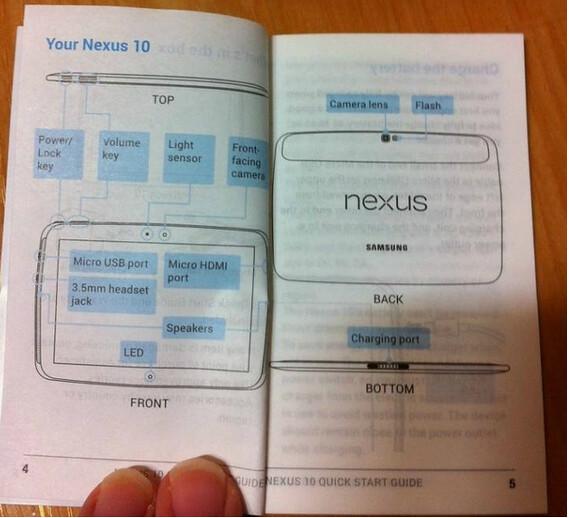 - Aparece el manual de la supuesta Nexus 10 de Samsung