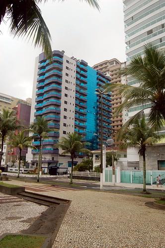 Die Apartmenthäuser am Strand von Praia Grande