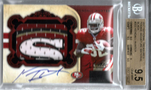 2011 Playoff National Treasures Rookie Signature Material Black #322 Kendall Hunter (17 of 25) BGS 9.5