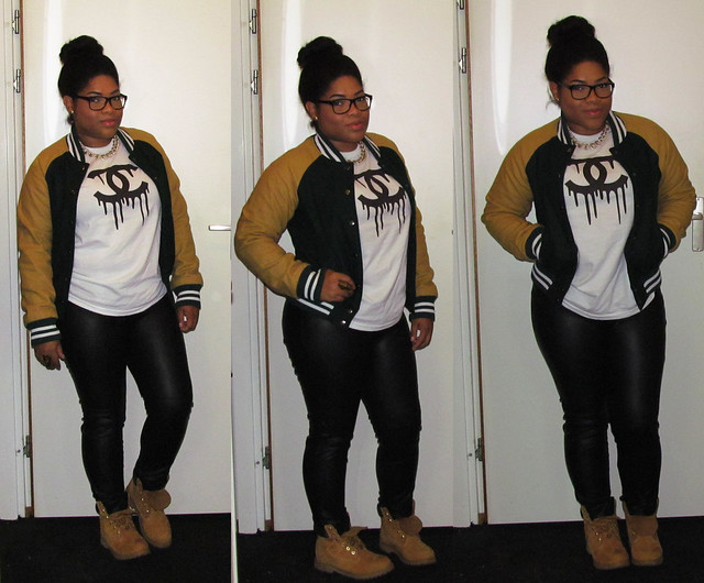 Forever 21, Chanel, Timberland, outfit of the day, High bun, Gucci, Primark
