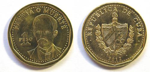 1 Peso de Cuba, 2012