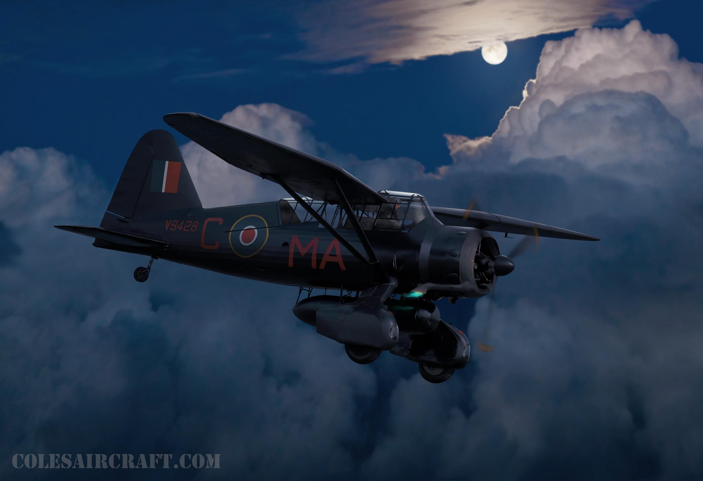 рисунок RAF Westland Lysander