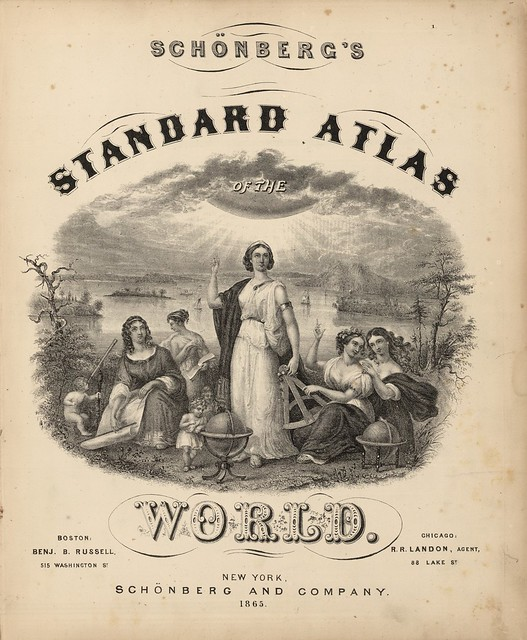 Schonberg's Standard Atlas Of The World. New York, Schonberg And Company 1867