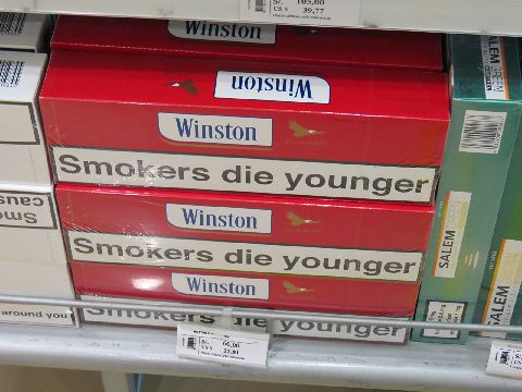 Cartons of cigarettes for sale in duty free shop -- cough,… | Flickr