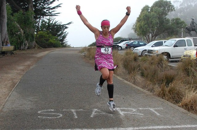 Yippee! I'm done! No idea where I got the energy to pull this off - Tracy's Lazarus Marathon