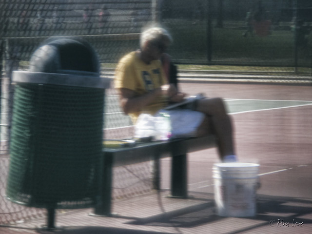 Furman Park tennis player
