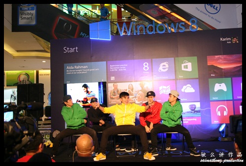 The Windows 8 launch started with a dance custom to Microsoft Windows 8 theme by Kartoon Network.