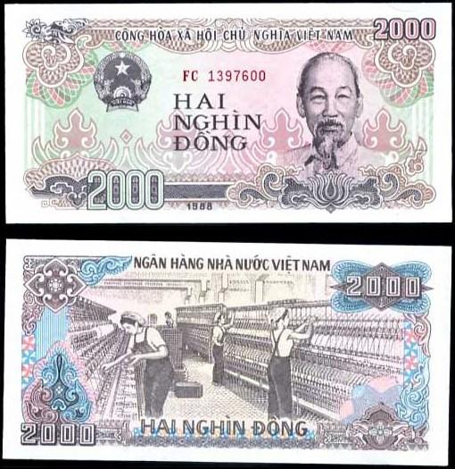 2000 Dong Vietnam 1988, Pick 107