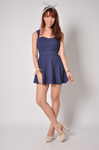 Little Freedom Skater Dress in Navy