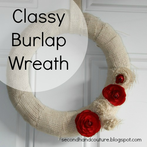 DIY Burlap Wreath wm
