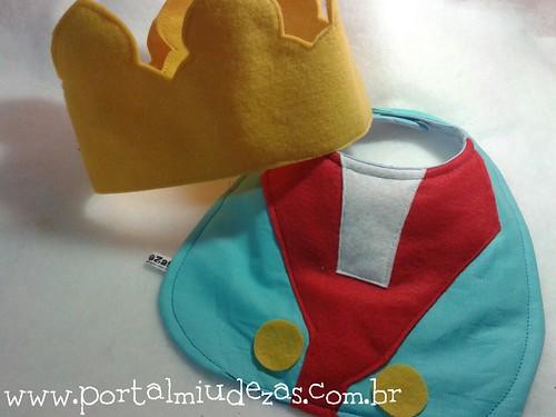 kit Pequeno Príncipe- babador e coroa by miudezas_miudezas