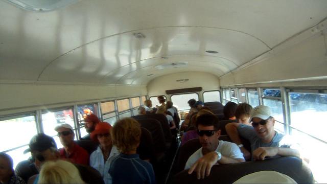 120809 01800 Truckee river rafting bus load
