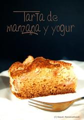 Tarta de Manzana y Yogur. Detalle