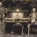 Three skeletons at the piano by The National Archives UK