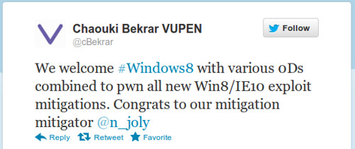 VUPEN Sec - Win8/IE10 pwnd #1