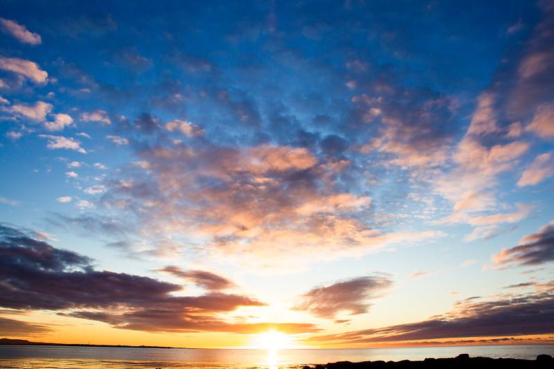 Sunset - Blue sky