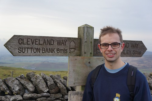 Richard enjoying the Cleveland Way, North York Moors