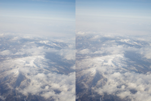 Mount Adatara, stereo parallel view