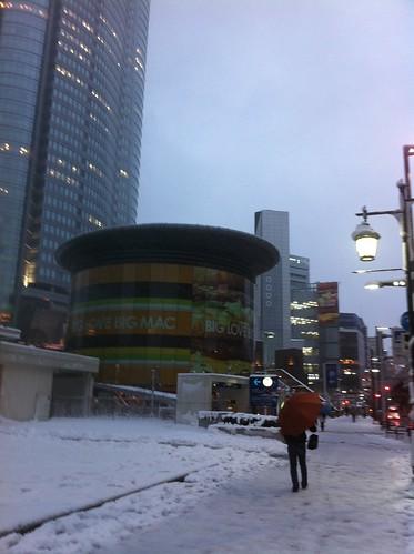 Roppongi in snow