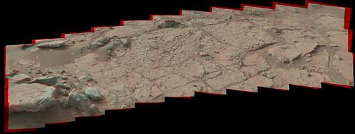CURIOSITY sol 153 MastCam 10059 x 3813 pixel anaglyph - drill target John Klein