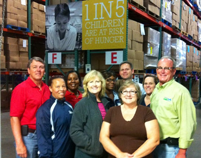 Employees of the USDA Rural Development Tennessee State Office volunteer for duty at the Second Harvest Food Bank of Middle Tennessee: Shown, Adia Kokona, Beverly McCadden, Jonathan Boyce, Penny Cliburn, Deneen Clayton, Don Harris, Fallan Faulkner, Abby Boggs, Roy Hill, Kathy Smith, and Brian Sutherland.