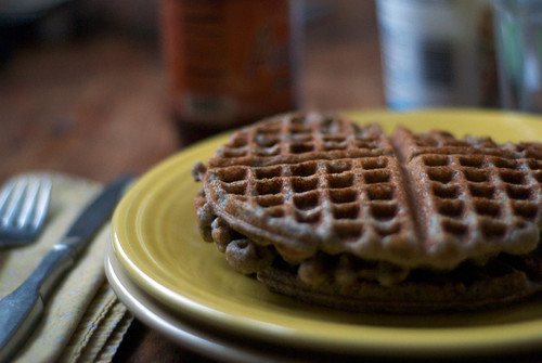 almond and buckwheat waffles - the road to the farm
