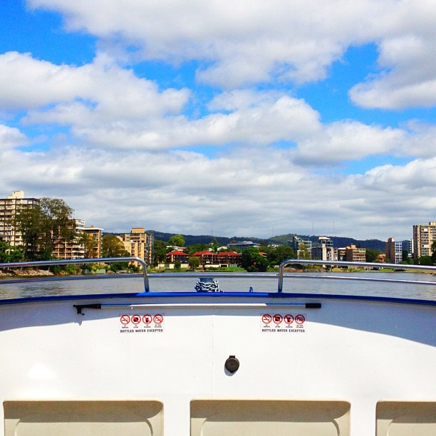 I'm on a boat // #febphotoskill #landscape // #febphotoaday #10AM // #brisbane #fromwhereisit