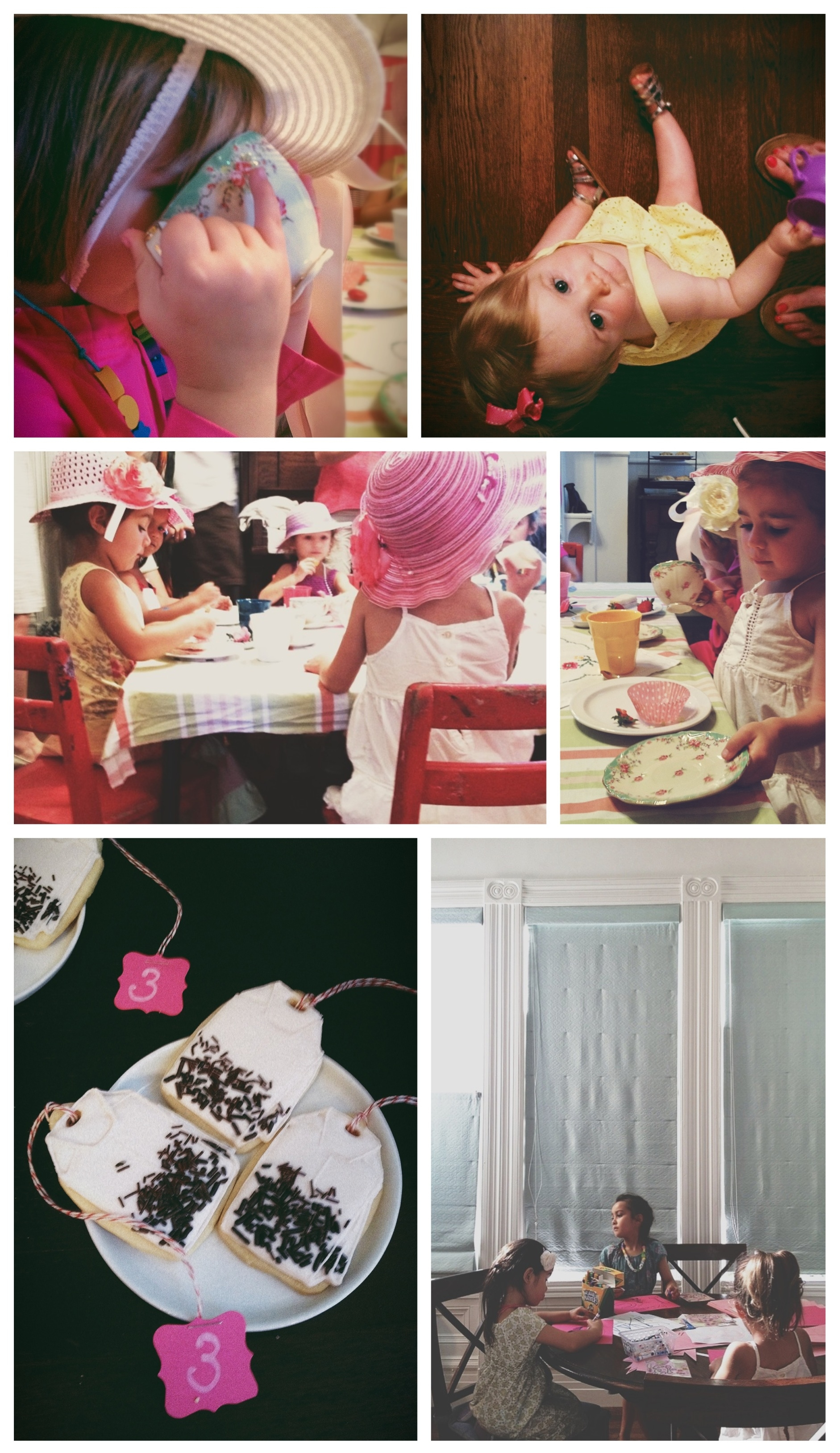 Lucy's Tea Party - iphone photo collage