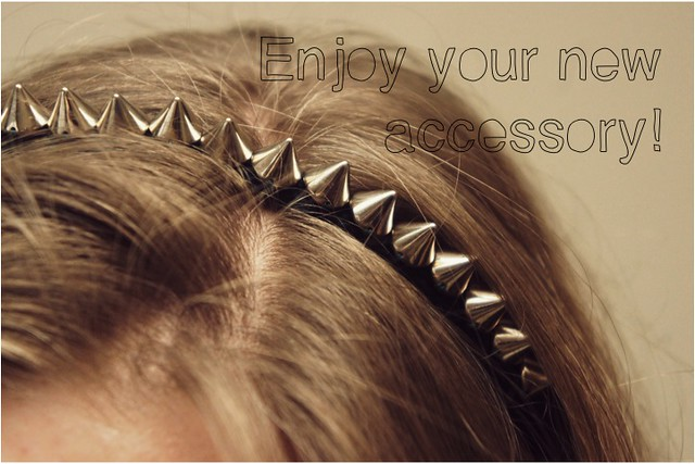 diy spiked headband tutorial
