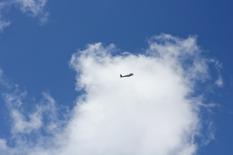 Friday, January 18: WWII planes fly over the city