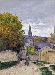 1867 Claud Monet Street in Sainte-Adresse(Clark Art Institute)(80 x 59,5 cm)