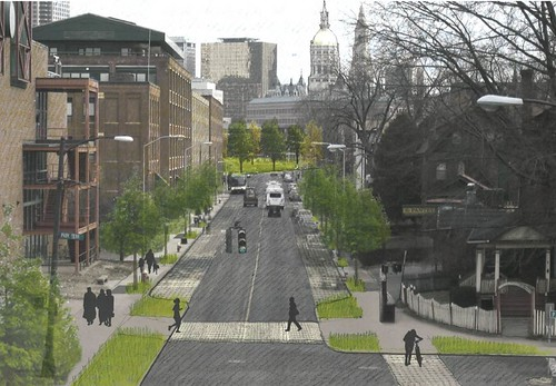 Capitol Avenue, Hartford, re-imagined (by: Nelson Byrd Woltz for US EPA)