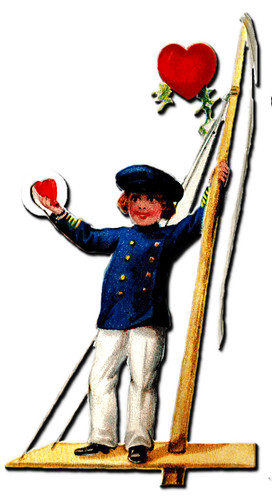 Vintage Valentine cut out Sailor by thegraphicaddict