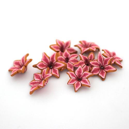 Stargazer Lily Beads