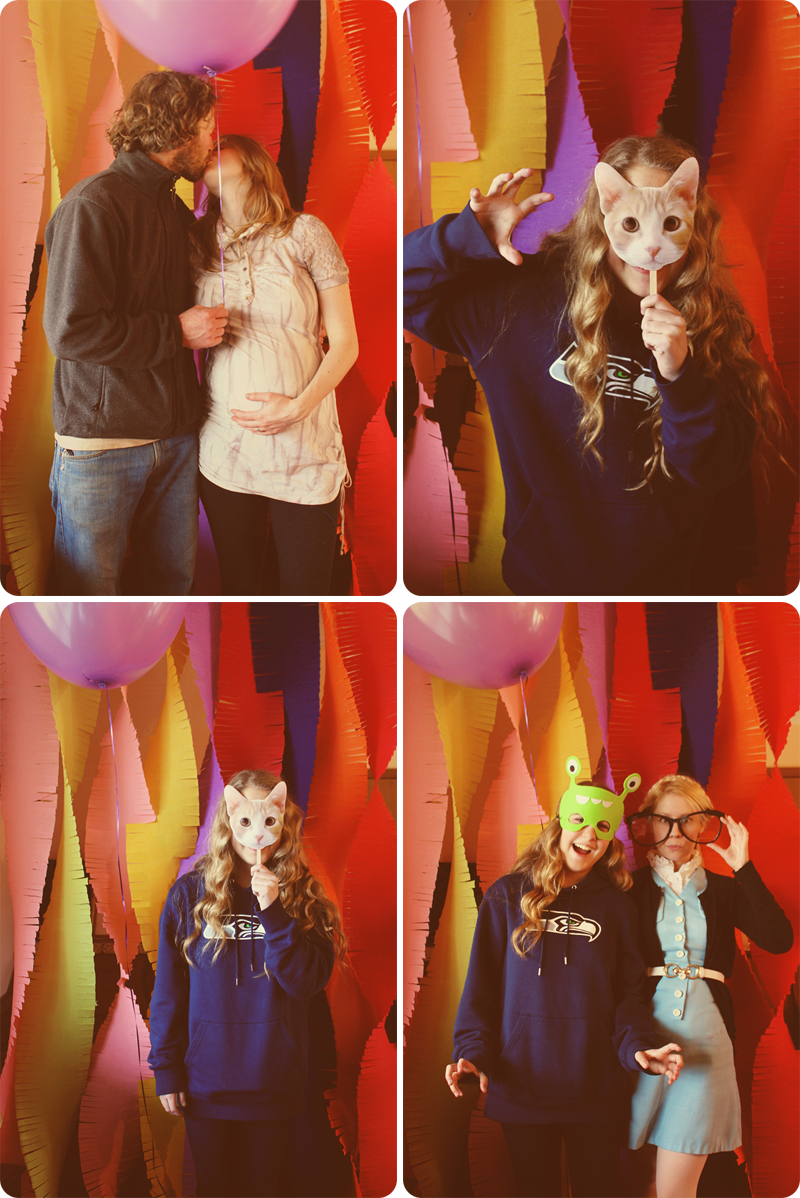 {baby shower} photobooth collage