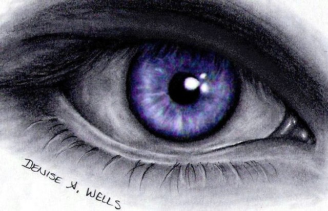 Realistic Eye Drawing by Denise A. Wells
