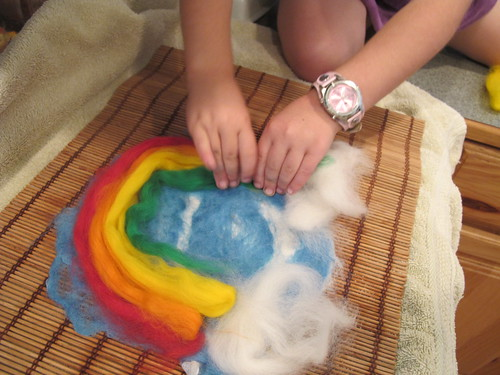 Summer Wet Felting: Rainbow#8