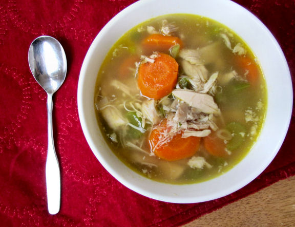 Homemade Chicken Soup with Bone Broth
