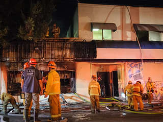 Man Found Dead in Boyle Heights Blaze. © Photo by Shawn Kaye. Click to view more...