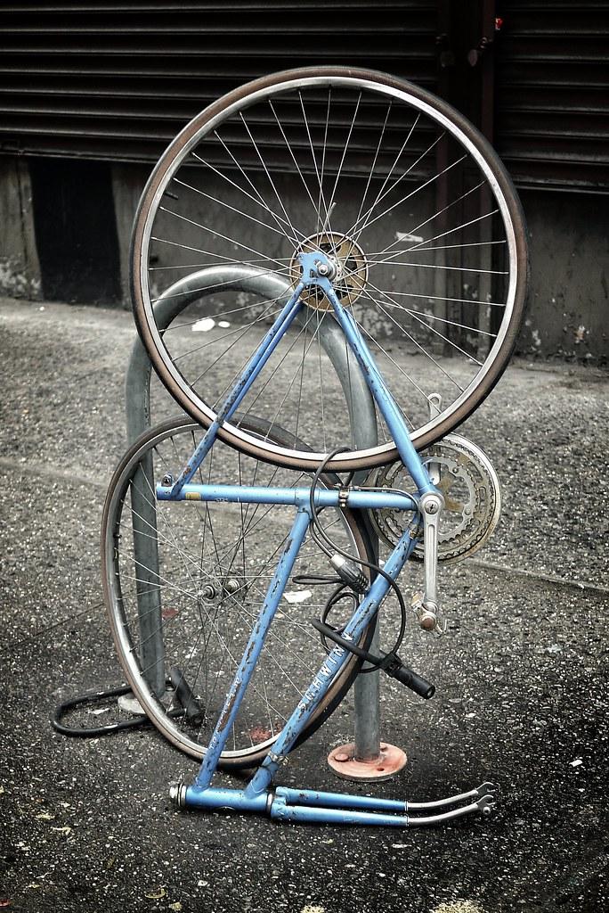 Bike sculpture #walkingtoworktoday