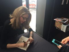 Tara Moss at the signing desk