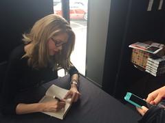 Tara Moss at the signing desk