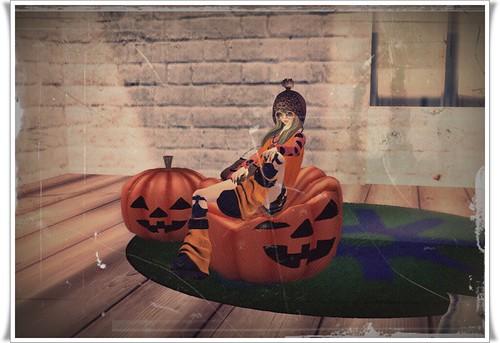[M*G*S] Halloween Gift Pumpkin Sofa*