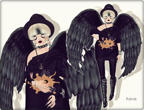 Black fancy dress。