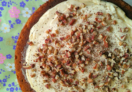 Sweet potato pecan cake