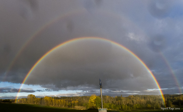 Double Rainbow | Stitched from 4 shots Panasonic LX-5 | By: Sigurd R ...