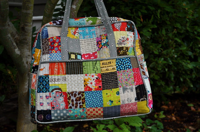 Patched & Quilted Weekender bags - a gallery on Flickr : quilted weekender bag - Adamdwight.com