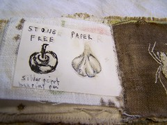 TerraSkin paper pasted to linen