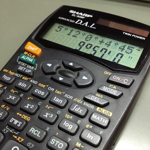 関数電卓EL-509Fで時間計算 by haruhiko_iyota